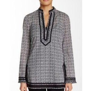 Tory Burch Embroidery And Fringe Collar Tunic